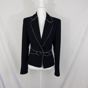Escada wool blazer jacket coat bow career work